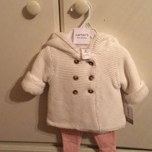 Baby girls winter set size 3m. New with tags!